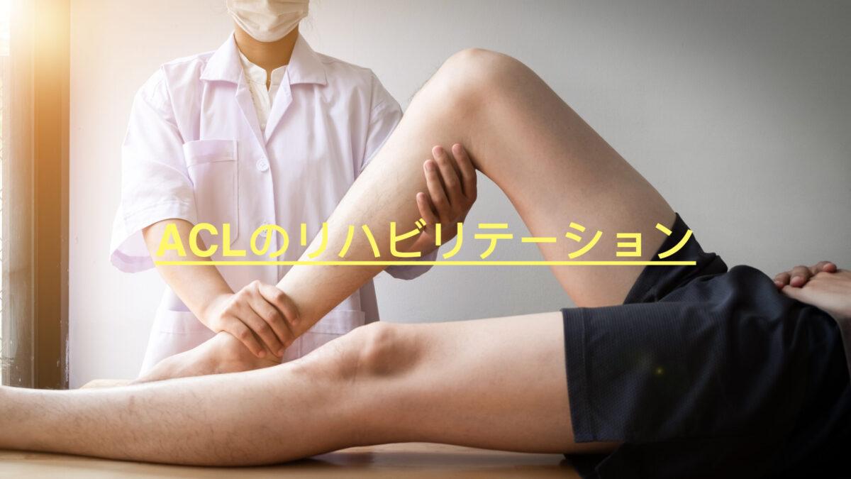 前十字靭帯損傷に対するリハビリテーション